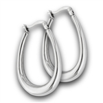 Stainless Steel 36 mm Hoop Earring