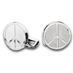Stainless Steel Peace Sign Cufflinks