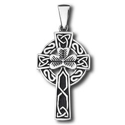 Stainless Steel Celtic Shamrock Pendant