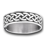 Stainless Steel Celtic Braids Ring