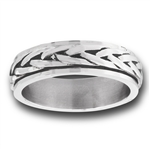 Stainless Steel Braids Spinning Ring