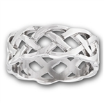 Stainless Steel Heavy Celtic Weave Ring
