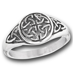 Stainless Steel Celtic Weave With Triquetras Ring