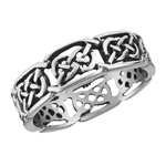 Stainless Steel Celtic Interwoven Knot Ring