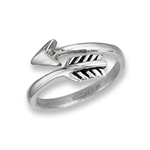 Stainless Steel Adjustable Arrow Ring