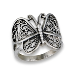Stainless Steel Butter Fly Ring