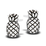 Sterling Silver Pineapple STUD EARRING