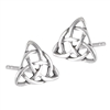 Sterling Silver Celtic Triangular Weave Stud Earring