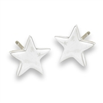 Sterling Silver High Polish Star Stud Earring