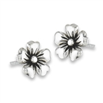 Sterling Silver Flower Stud Earring