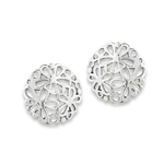 Sterling Silver Flowers Stud Earring