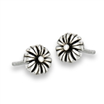 Sterling Silver Springy Flower Stud Earring
