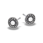 Sterling Silver Bali Style Granulated Stud Earring