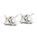 Sterling Silver Hugs And Kisses STUD EARRINGS