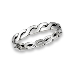 Sterling Silver Interlocking Weave Ring