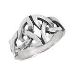 Sterling Silver Celtic Double Triquetra Ring