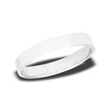 Sterling Silver 4 mm High Polish Flat WEDDING Band