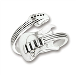 Sterling Silver Adjustable Guitar Ring