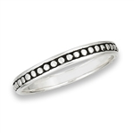 Sterling Silver Thin 360 Degree Dot Ring