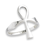 Sterling Silver Classic Ankh Ring