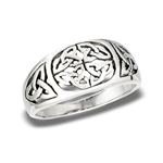 Sterling Silver Celtic Knots With Triquetras Ring