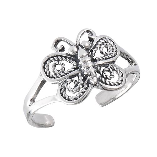 sterling silver butterfly toe ring 10 mm in wholesale bulk