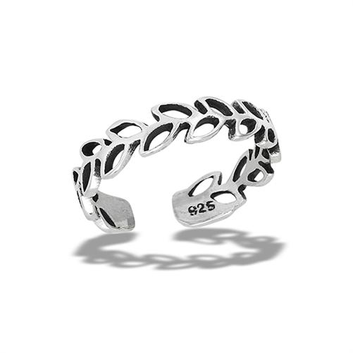 wholesale sterling silver filigree swirl toe ring 4 mm