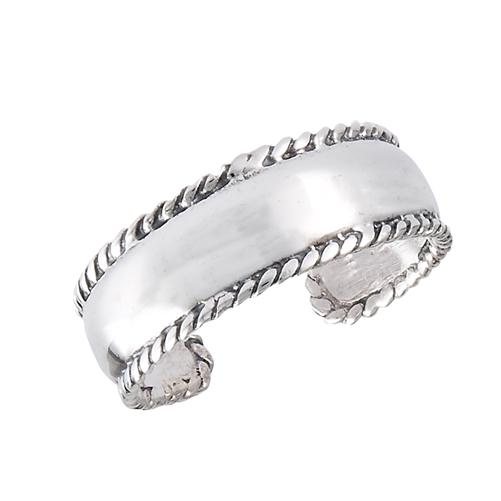 sterling silver milgrain toe ring