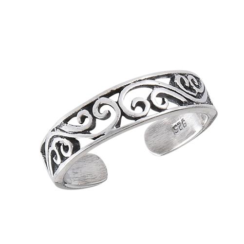 sterling silver toe filigree ring 5 mm in wholesale bulk