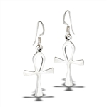 Sterling Silver Ankh Dangle Earring