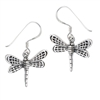 Sterling Silver Dragonfly Earring