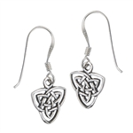 Sterling Silver Celtic Endless Knot Dangle Earring