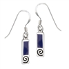 Sterling Silver Earring with Synthetic Lapis
