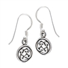 Sterling Silver Celtic Weave Dangle Earring