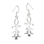 Sterling Silver Small Ankh Dangle Earring