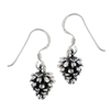 Sterling Silver Pine Cone Earring