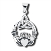 Sterling Silver Celtic Claddaugh Pendant