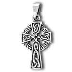 Sterling Silver Cross With Triquetra Pendant