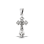 Sterling Silver Victorian Filigree Cross Pendant