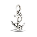 Sterling Silver Anchor And Line Pendant