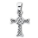 Sterling Silver Celtic Weave Cross Pendant