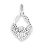 Sterling Silver Celtic Weave Slide Pendant