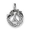 Sterling Silver Celtic Dragon Pendant