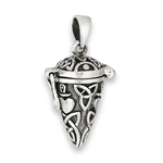 Sterling Silver Hinged Pendant with Triquetras