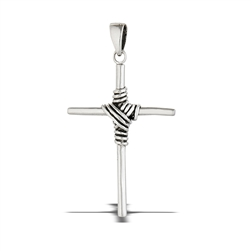 Sterling Silver Wire-Wrapped Cross Pendant