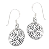 Sterling Silver Circular Endless Knot Celtic Earring