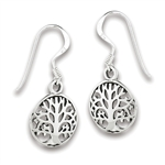 Sterling Silver Tree Of Life Earring
