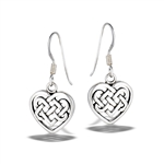 Sterling Silver Celtic Weave Heart Earring