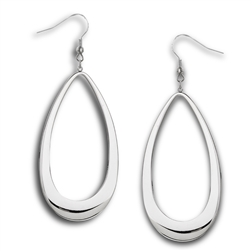 Stainless Steel High Polish Large Drop Earring