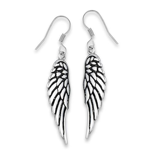 Stainless Steel Angel Wings Earring